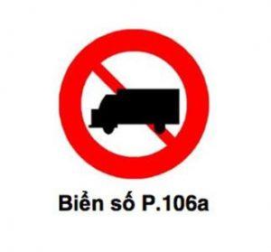biển báo cấm xe tải