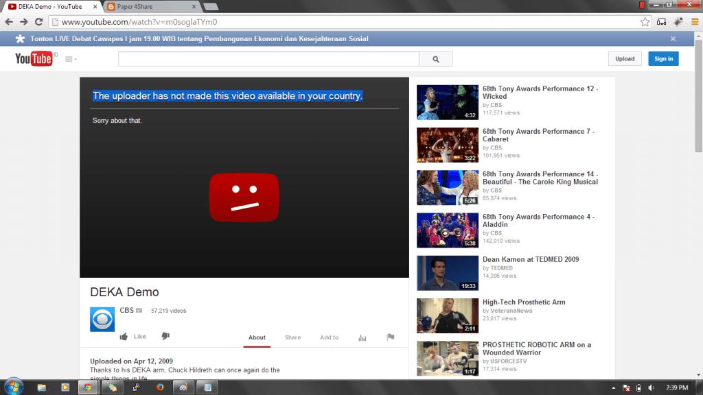 tại sao youtube bị chặn